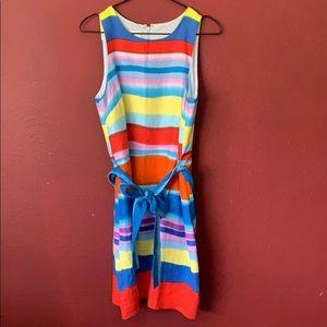 Donna Morgan linen rainbow dye color & belt
